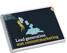 Mockup van lead generation met contentmarketing e-book